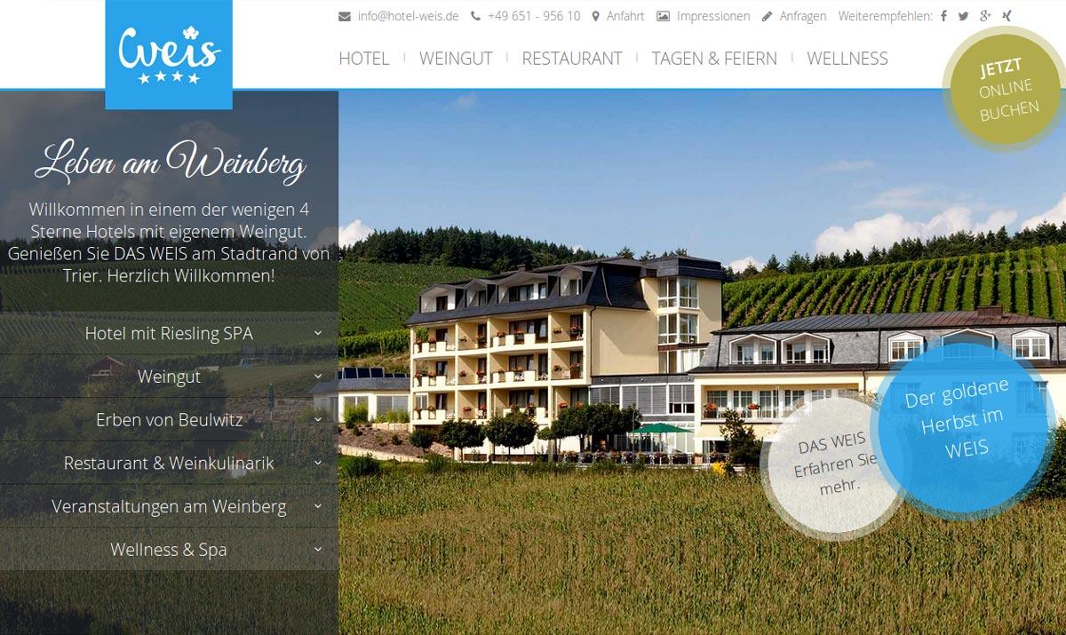 Referenz-HotelWeis-Website
